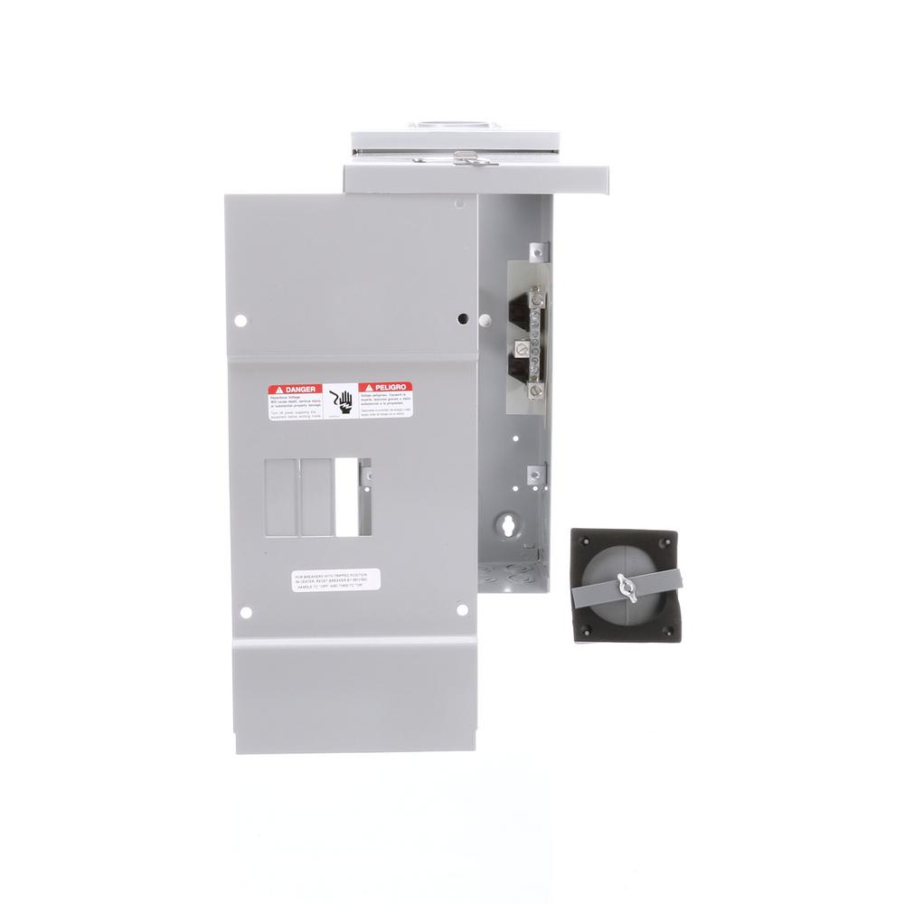 Siemens 100 Amp 3 Space Circuit Phase Main Lug Breaker Outdoor Small