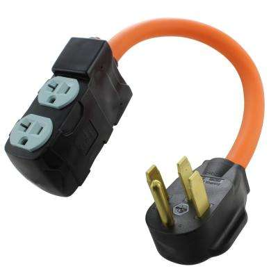 1.5 ft. Adapter NEMA 14-50P RV/Range/Generator Plug to (4) Household Outlets with 20 Amp Breaker