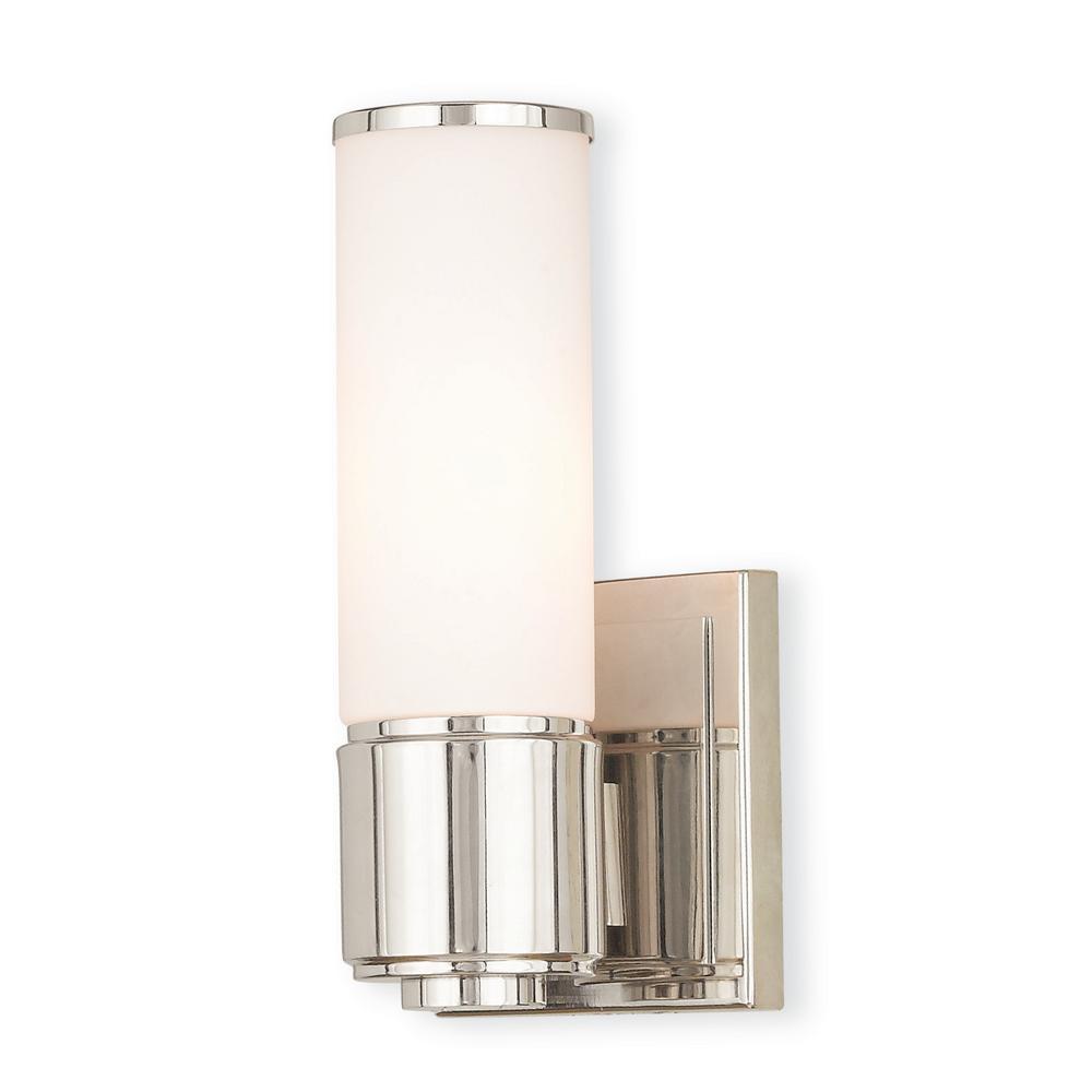 Weston 1-Light Polished Nickel ADA Bath Light