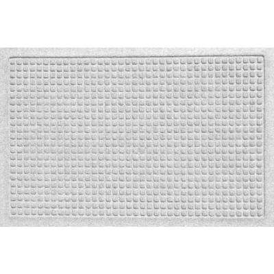 Aqua Shield Squares White 17.5 in. x 26.5 in. Door Mat