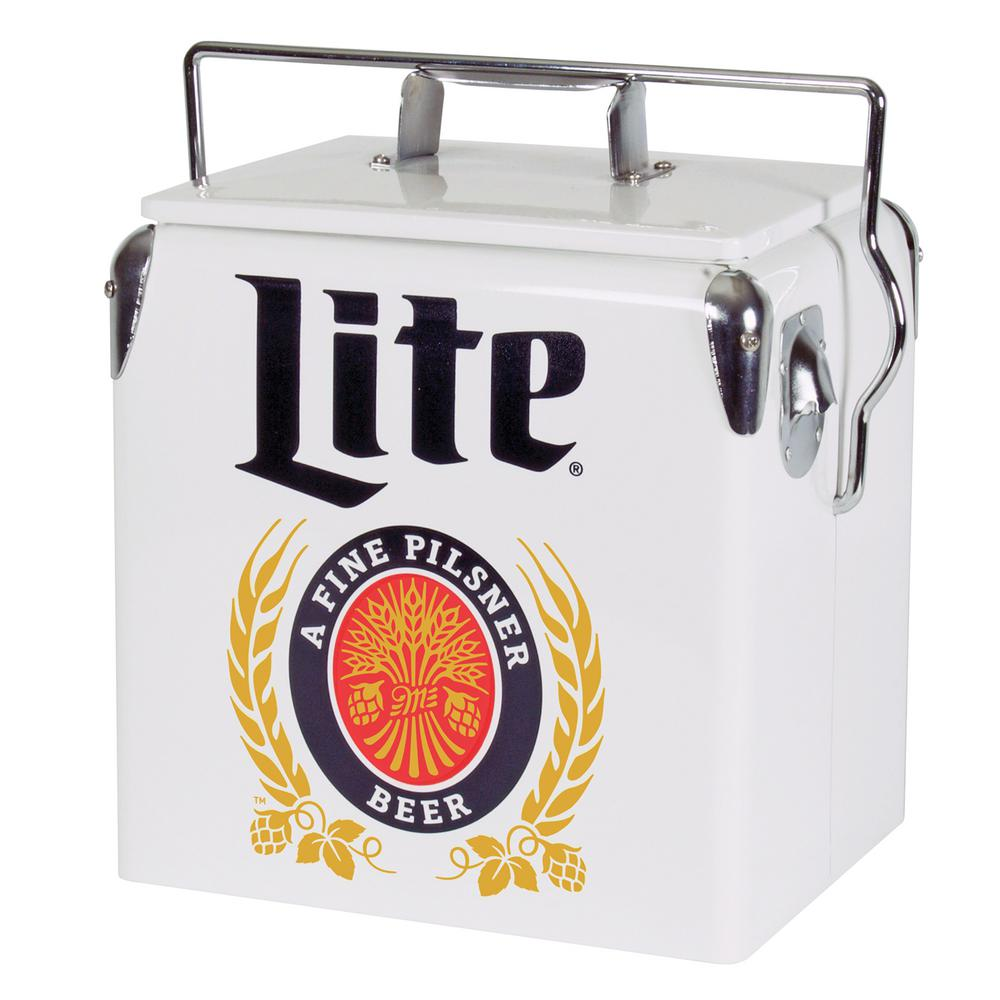13 l Stainless Steel Miller Lite Ice Chest Cooler