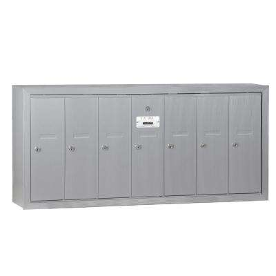 Aluminum Surface-Mounted USPS Access Vertical Mailbox with 7 Door