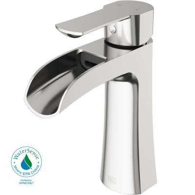 Paloma Single Hole Single-Handle Bathroom Faucet in Brushed Nickel