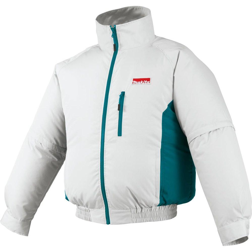 Makita Men's X-Large White 18-Volt LXT Lithium-Ion Cordless Fan Jacket, Jacket Only