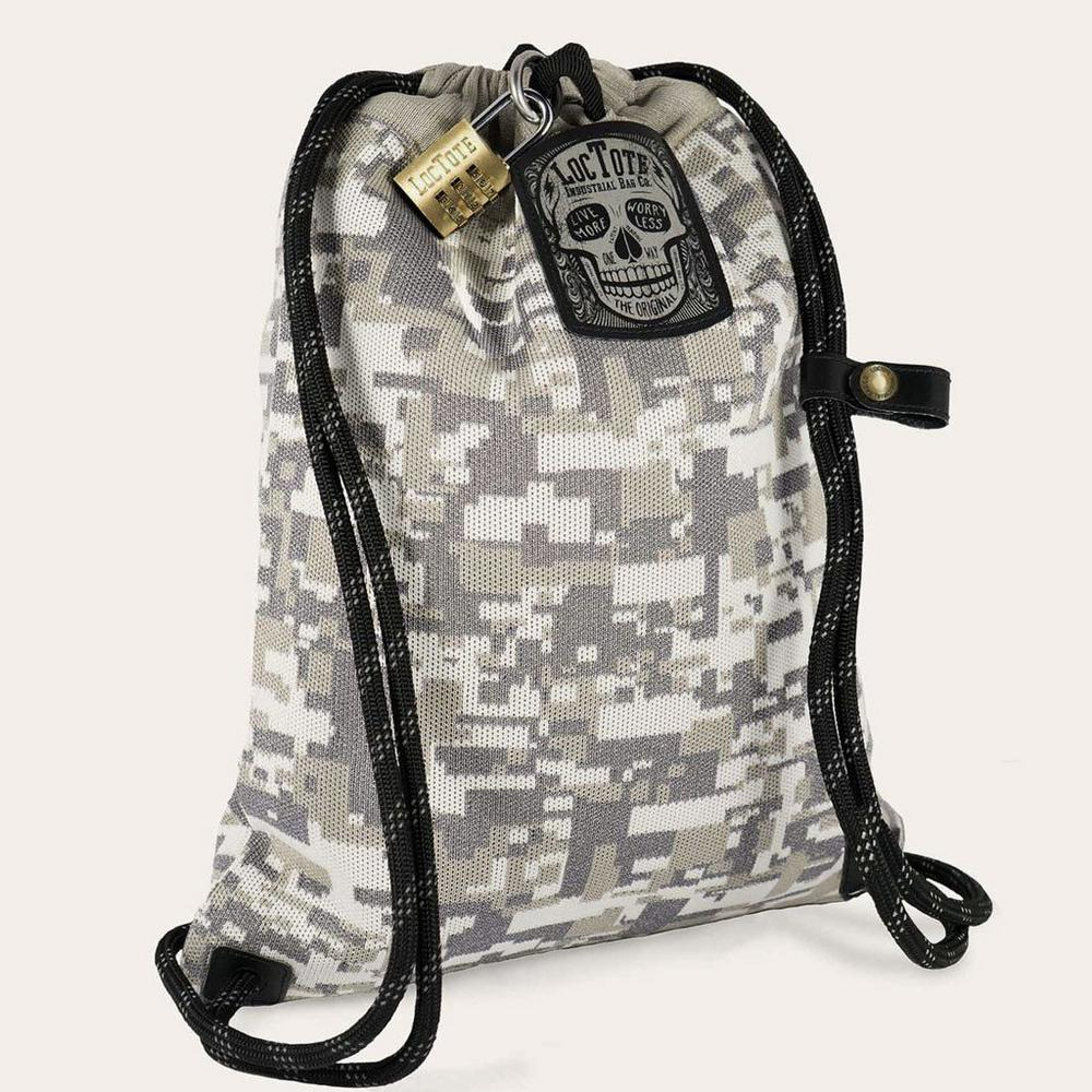 Loctote Flak Sack COALITION 18 in. Camo Backpack with Theft Proof Features 3136ee581aed1
