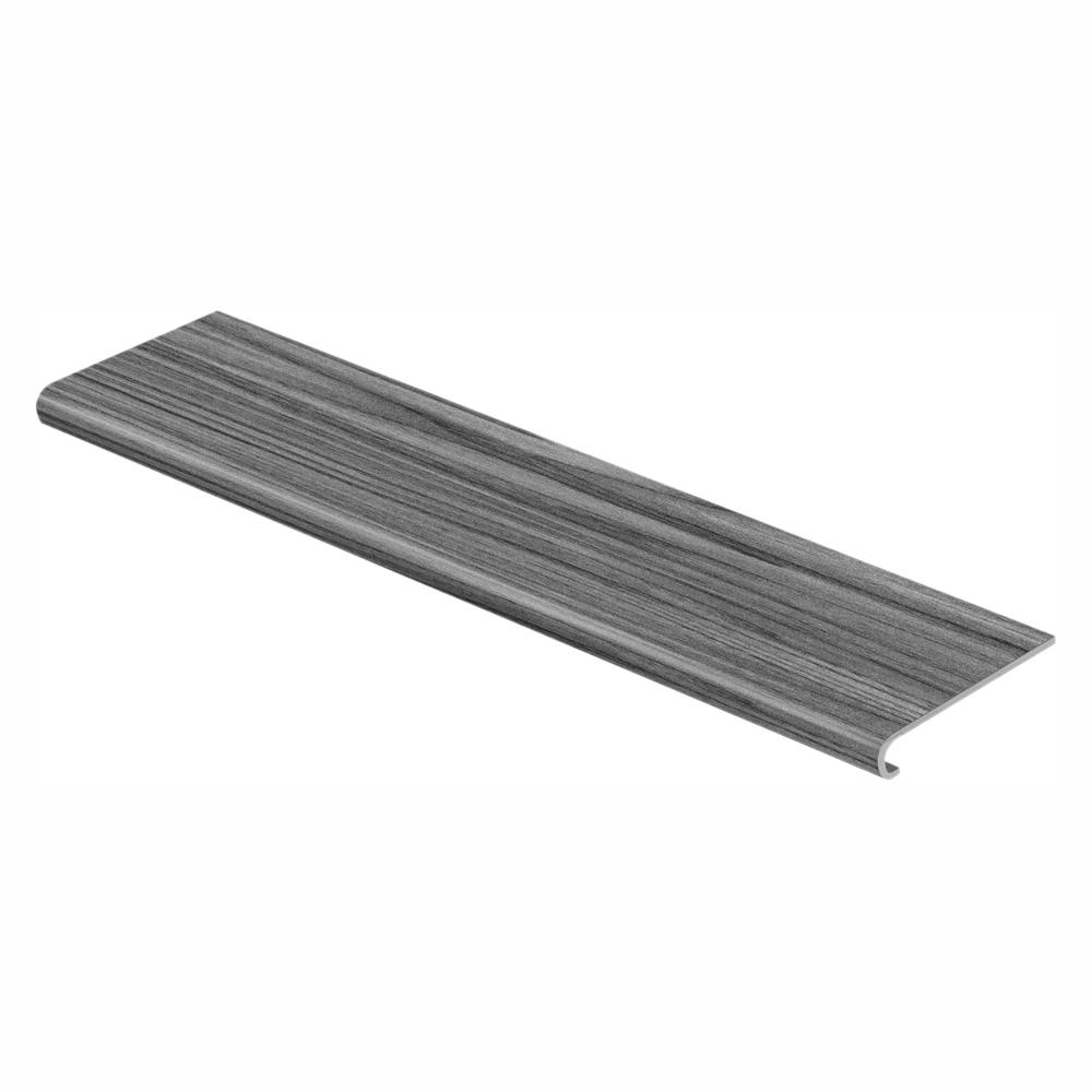 Cap A Tread Sky Gray Oak 47 in. Length x 12-1/8 in. Wide x 1-11/16 in. Thick Laminate to Cover Stairs 1 in. Thick
