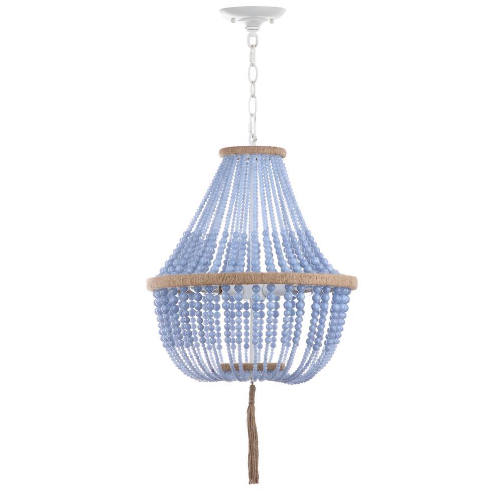 Lush Kristi 3-Light Blue Beaded Pendant
