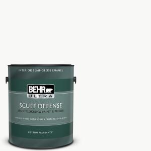 1 gal. Ultra Pure White Extra Durable Semi-Gloss Enamel Interior Paint and Primer in One