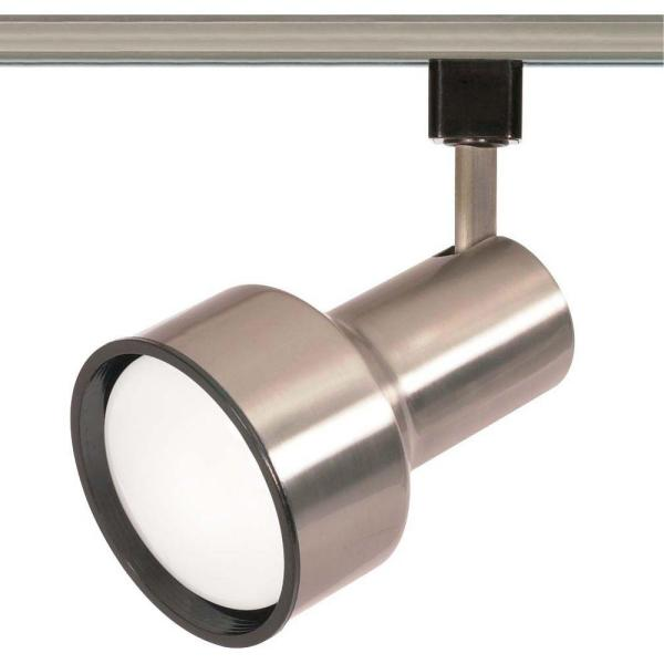 1-Light R30 Brushed Nickel Step Cylinder Track Lighting Head