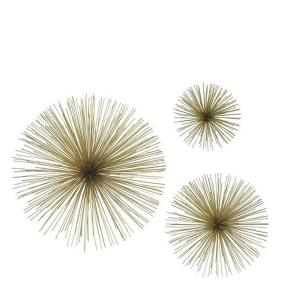 Assorted Metal Gold Star Bursts Wall Art (Set of 3)