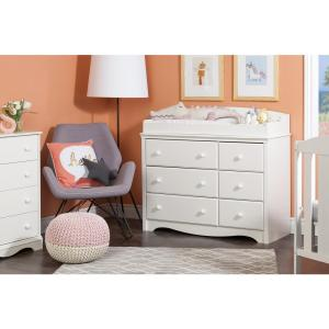 +3. South Shore Angel 6 Drawer Pure White Changing Table