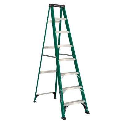 8 ft. Fiberglass Step Ladder with 225 lbs. Load Capacity Type II Duty Rating