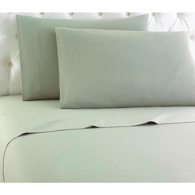 Micro Flannel 4-Piece Meadow Solid Full Sheet Set
