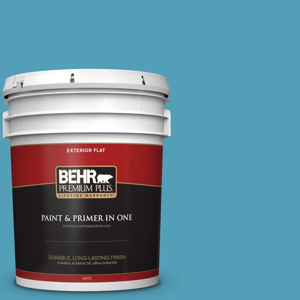5 gal. #M480-5A North Pole Blue Flat Exterior Paint