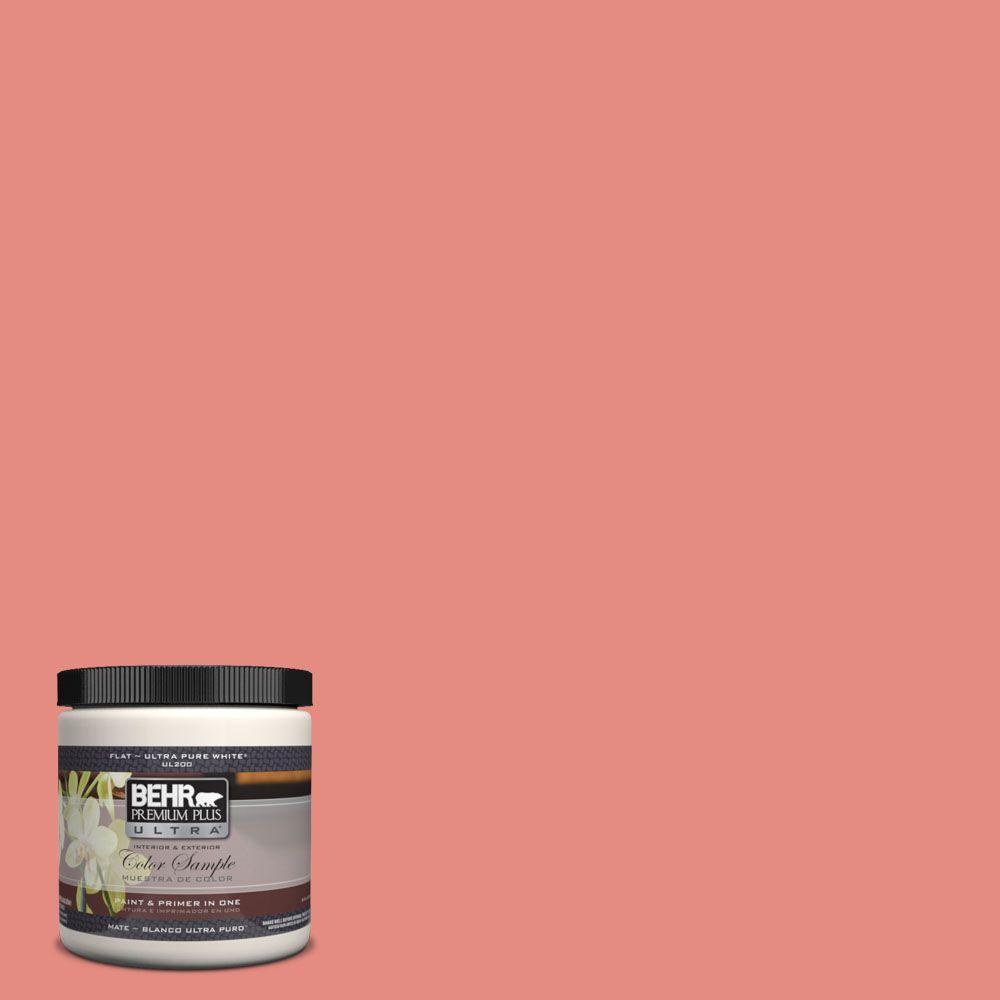 BEHR Premium Plus Ultra 8 oz. #190D-5 Peony Pink Interior/Exterior Paint Sample