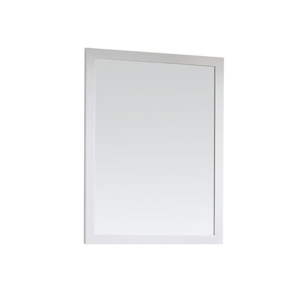 Home Decorators Collection Riverdale 28 in. x 36 in. Single Framed Wall Mirror in White