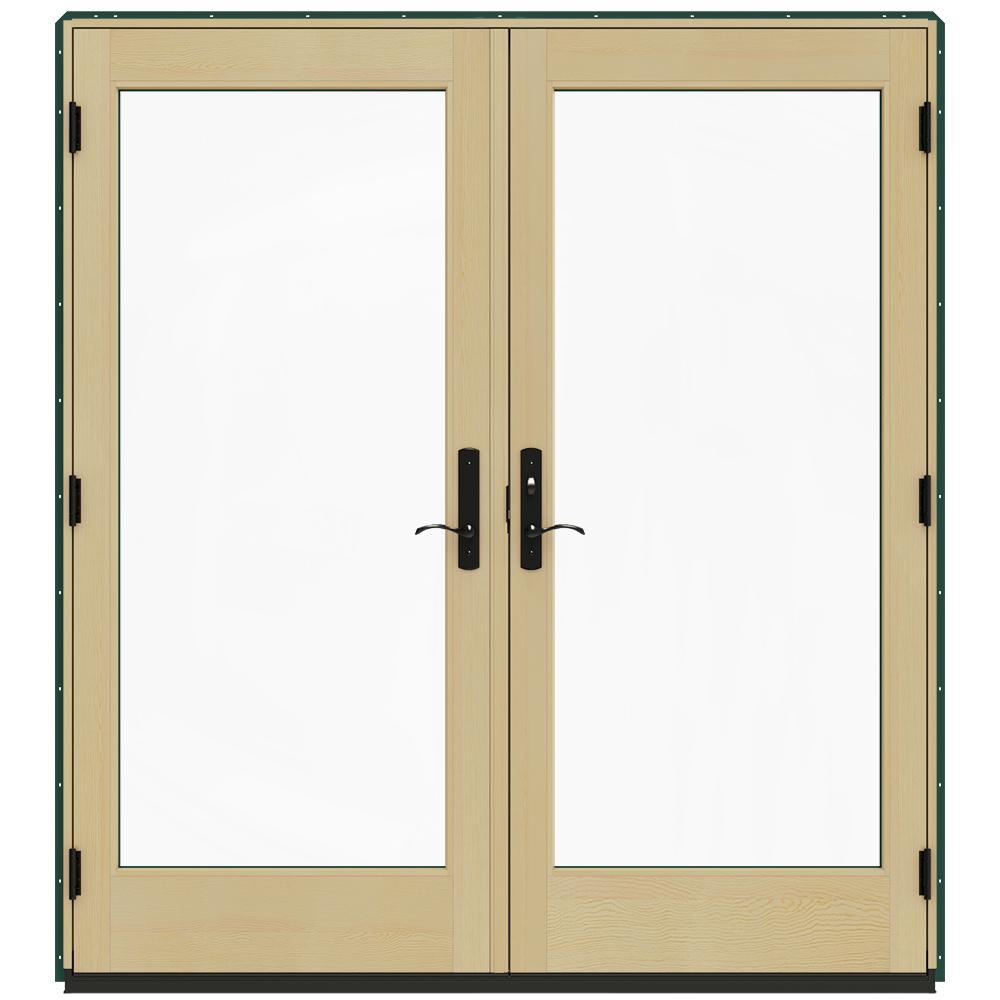 Jeld wen 72 in x 80 in w 4500 green clad wood left hand for 14 x 80 interior door
