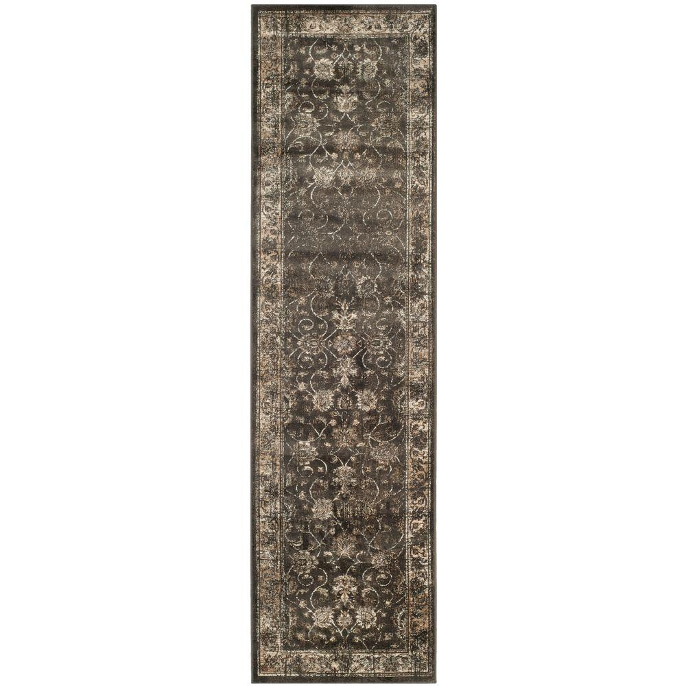 Safavieh Vintage Soft Anthracite 2 Ft X 8 Ft Runner Rug