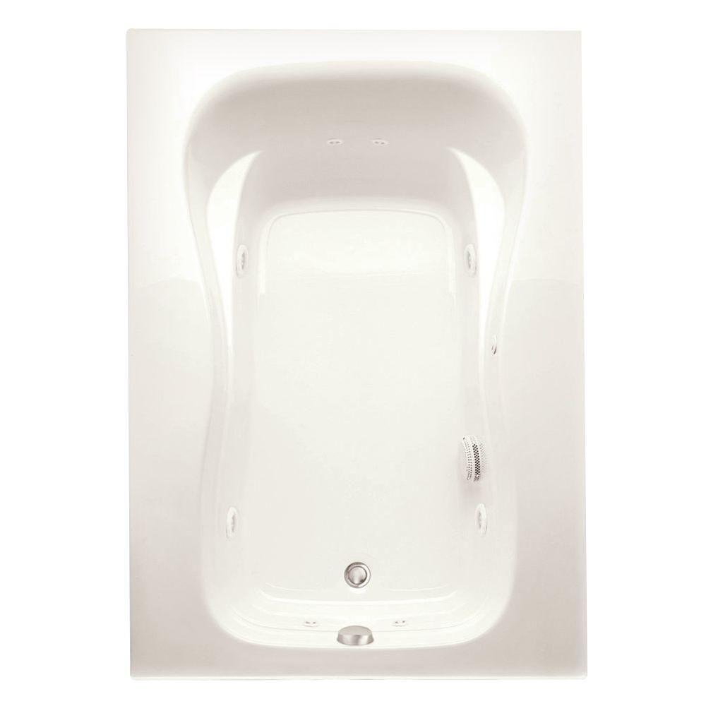 Marratta 5 ft. Left Drain Acrylic Whirlpool Bath Tub with Heater