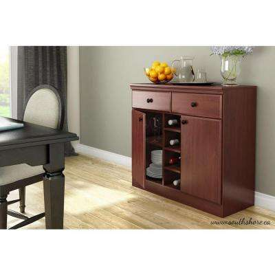 Morgan Royal Cherry Buffet with Wine Storage