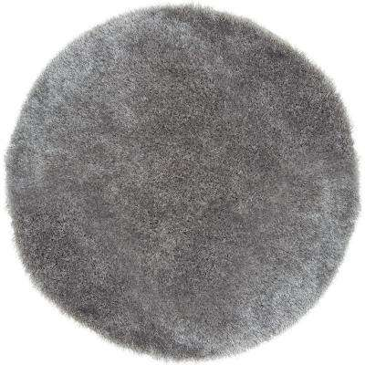 Shag Gray 5 ft. x 5 ft. Area Rug