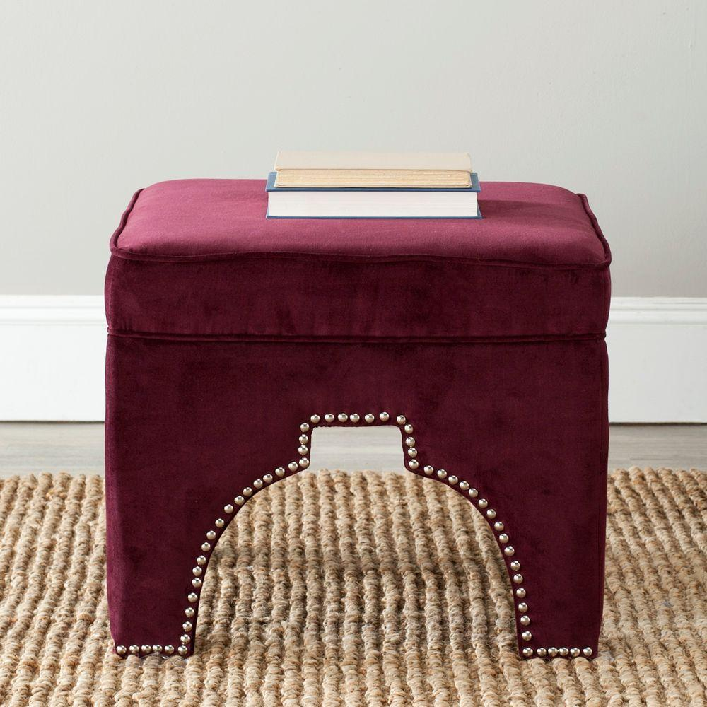 Safavieh Grant Bordeaux Accent Ottoman