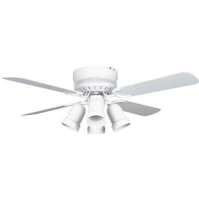 Hugger 42 in. White Ceiling Fan