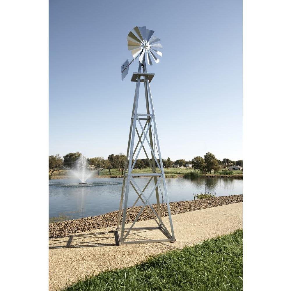 Large Galvanized Backyard Windmill