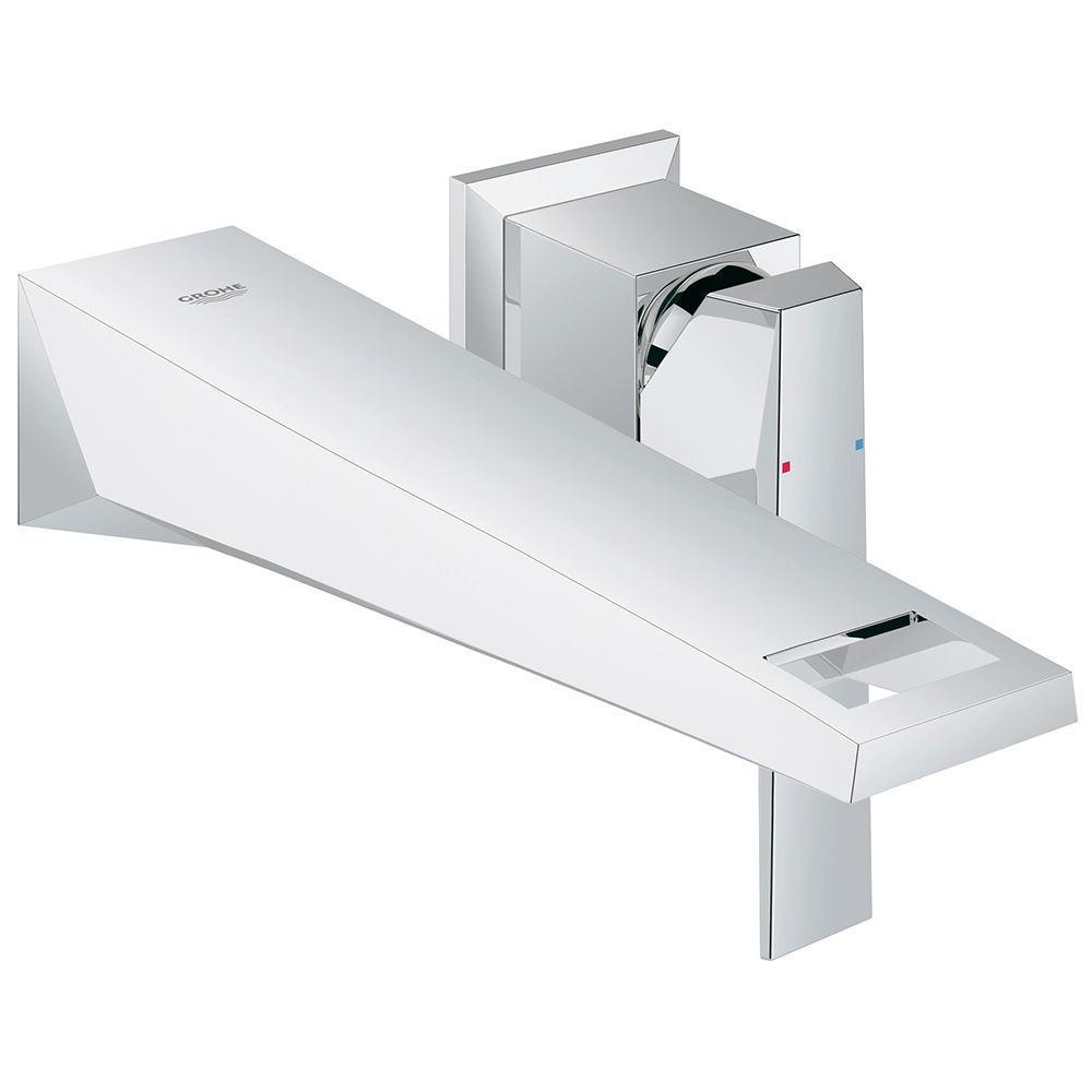 GROHE Allure Brilliant Double Hole Single Handle Wall Mount Vessel Bathroom  Faucet In StarLight