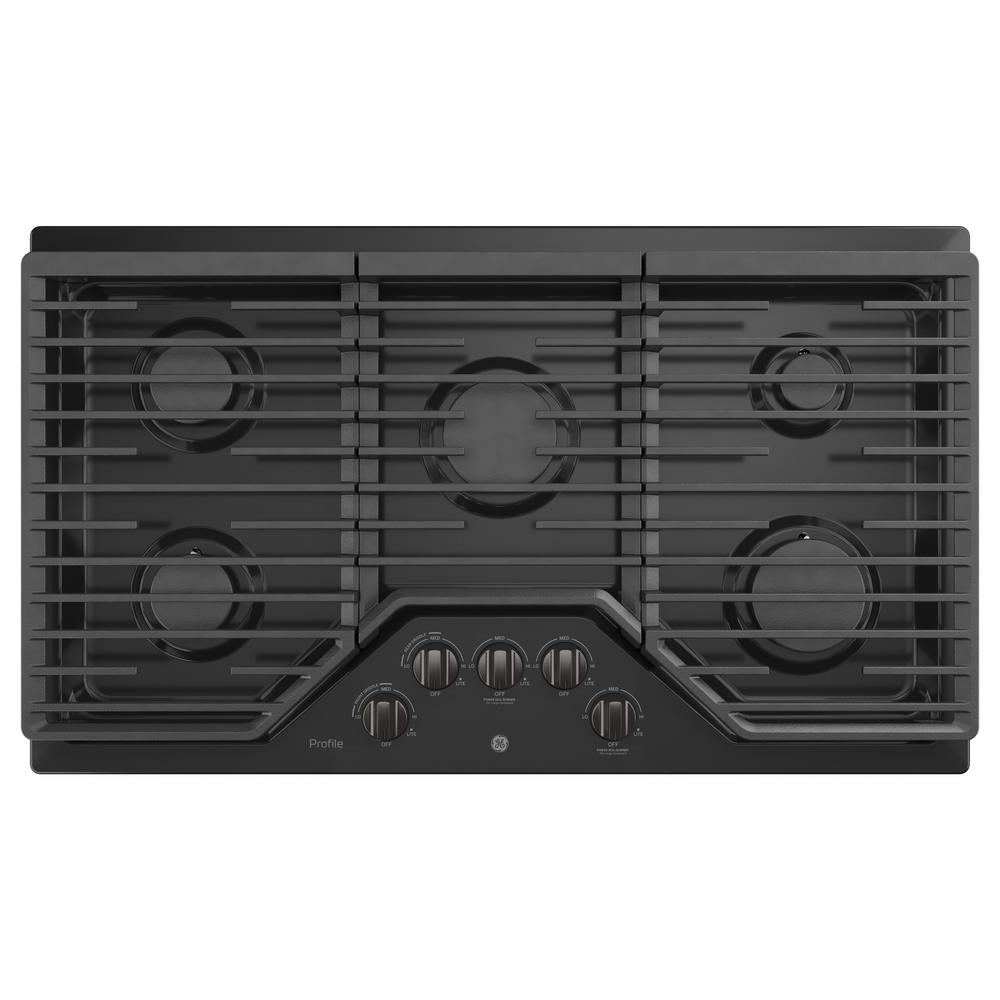 Ge Profile 36 In Gas Cooktop Black