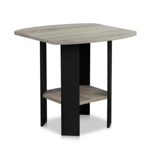 internet furinno simple design french oak grey end table