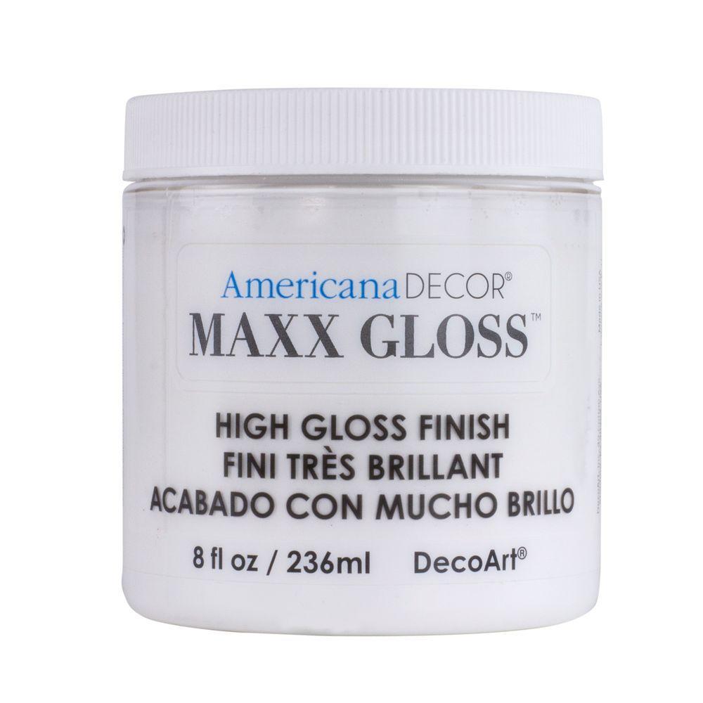 Americana Decor Maxx Gloss 8 oz. White China Paint