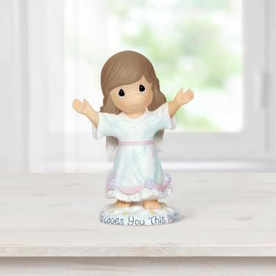 Tabletop Angel Resin God Loves You This Much Figurine