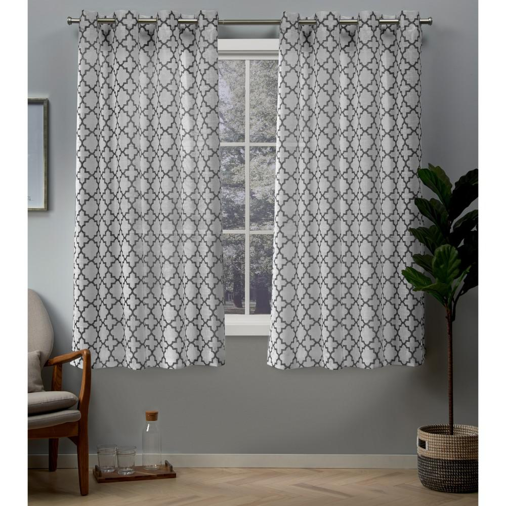 Exclusive Home Curtains Helena 54 In W X 63 L Sheer Grommet Top