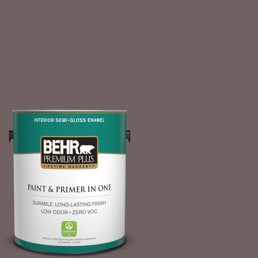 1-gal. #N140-6 Wright Brown Semi-Gloss Enamel Interior Paint