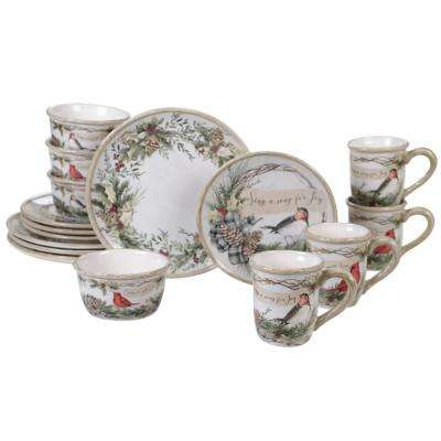 Holly and Ivy 16-pc Earthenware Dinnerware Set
