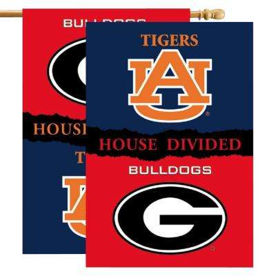 NCAA 28 in. x 40 in. Georgia/Auburn Rivalry House Divided Flag