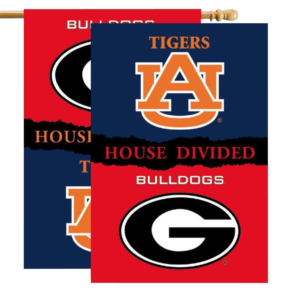 NCAA 28 in. x 40 in. Georgia/Auburn Rivalry House Divided Flag