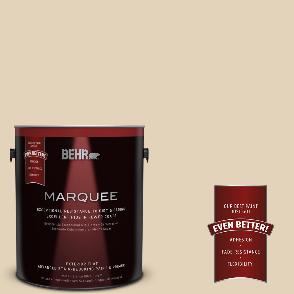 BEHR MARQUEE 1-gal. #BXC-50 Stucco White Flat Exterior Paint