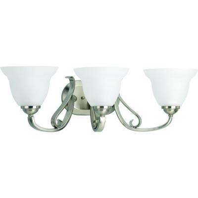Torino Collection 3-Light Brushed Nickel Vanity Fixture