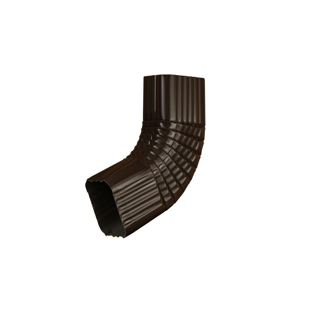 2 in. x 3 in. Musket Brown Aluminum Downspout B Elbow