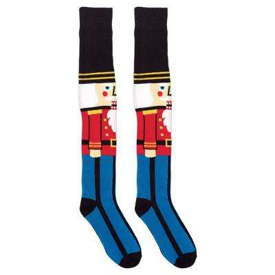 24.5 in. Nutcracker Christmas Over the Knee Socks (2-Count, 2-Pack)