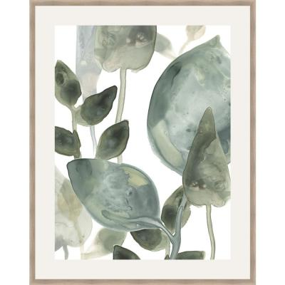 30 in. x 24 in. 'WATER LEAVES II' by June Erica Vess Framed Wall Art