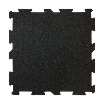 XR6 Black 18 in. x 18 in. Rubber Activity Floor (12-Pack)