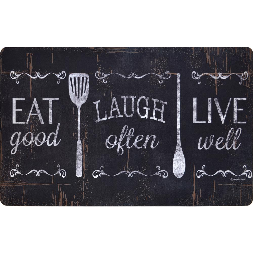 Home Dynamix Designer Chef Eat, Laugh, Live 18 in. x 30 in. Anti ...