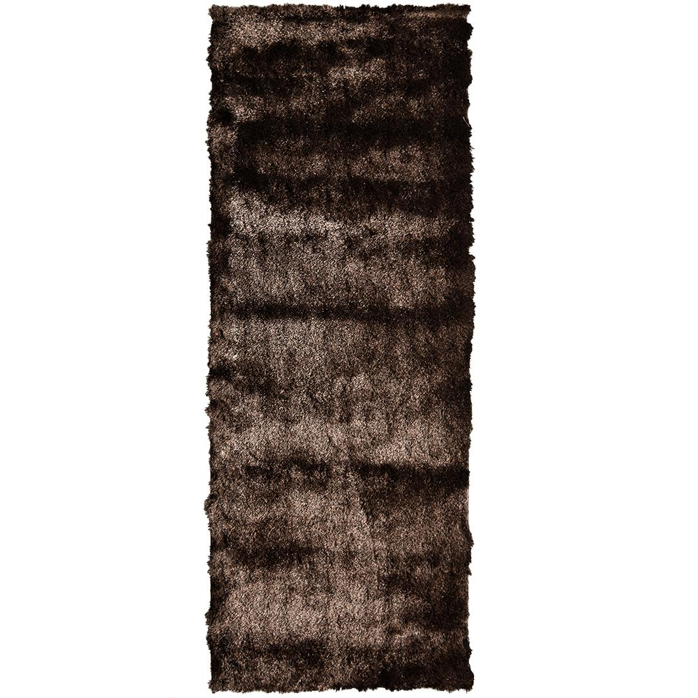 Home Decorators Collection So Silky Chocolate 2 ft. x 7 ft. Area Rug