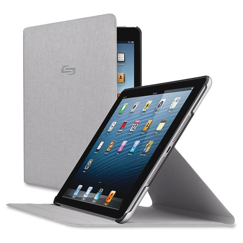 Solo Vinyl iPad Air Millennia Carrying Case, Titanium, Gray