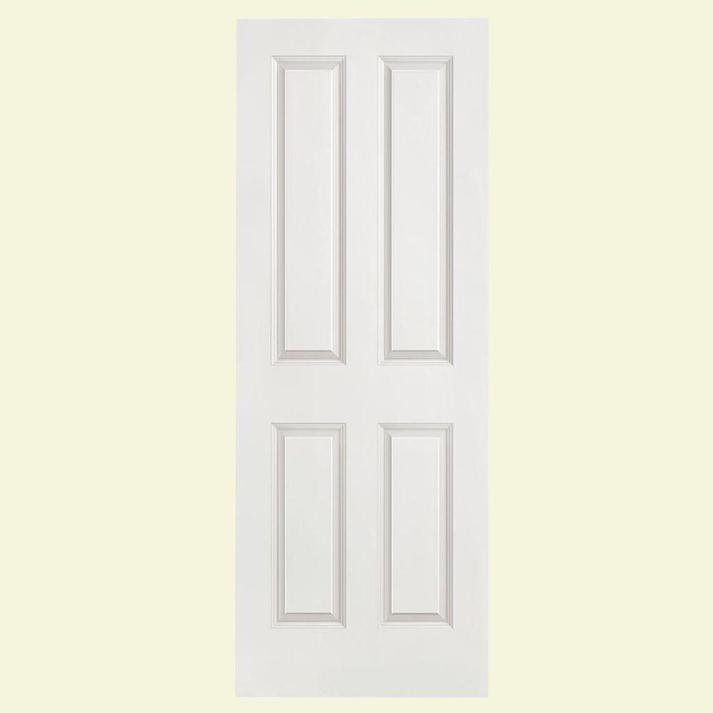 Masonite 4-Panel Smooth Hollow-Core Primed Composite Interior Door Slab