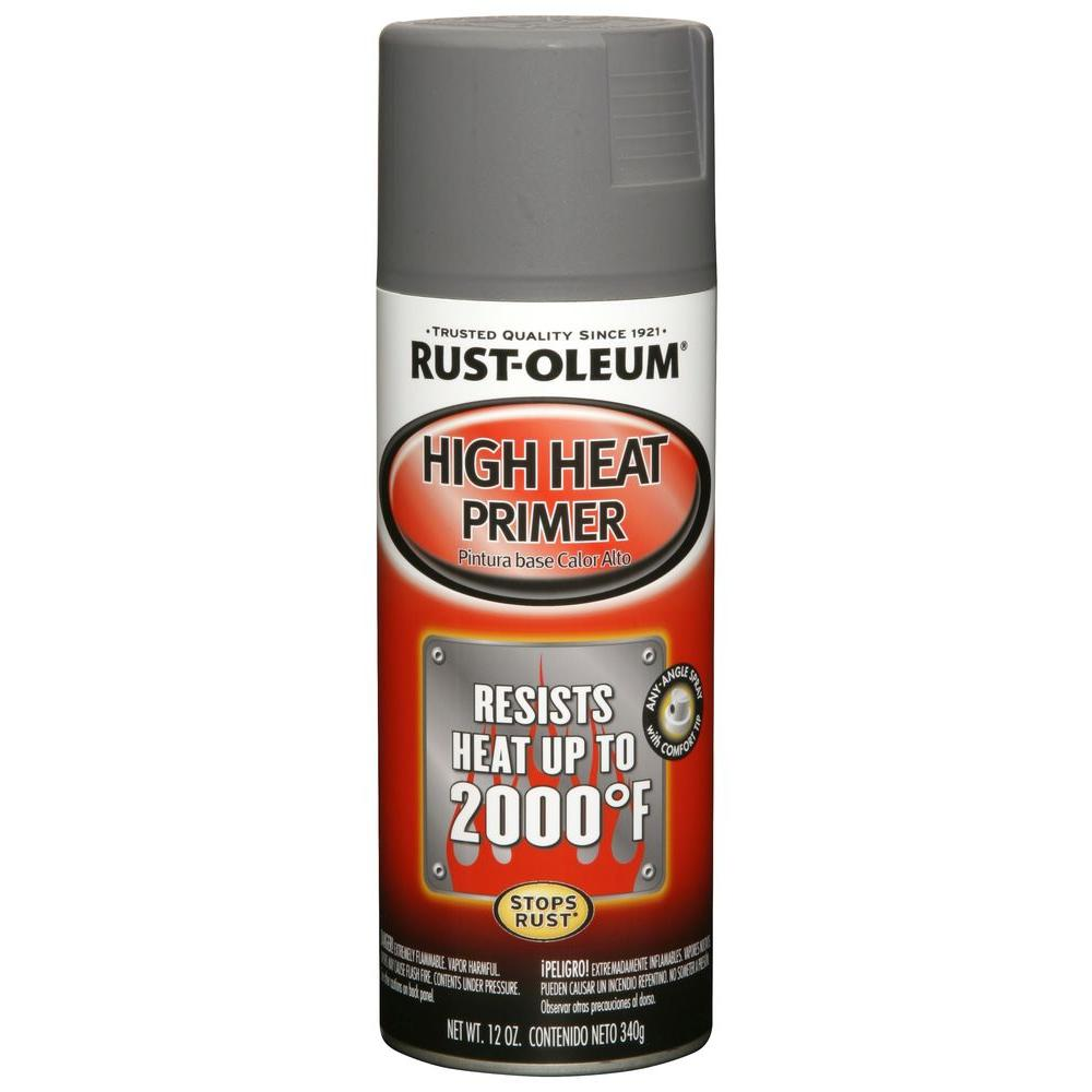 Rust-Oleum Automotive 12 oz. High Heat Primer Gray Spray Paint (6-Pack)