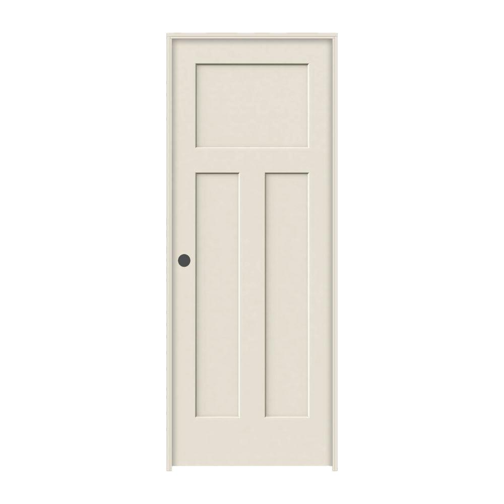 Jeld Wen 30 In X 80 In Craftsman Primed Right Hand Smooth Solid Core Molded Composite Mdf Single Prehung Interior Door Thdjw137100056 The Home Depot